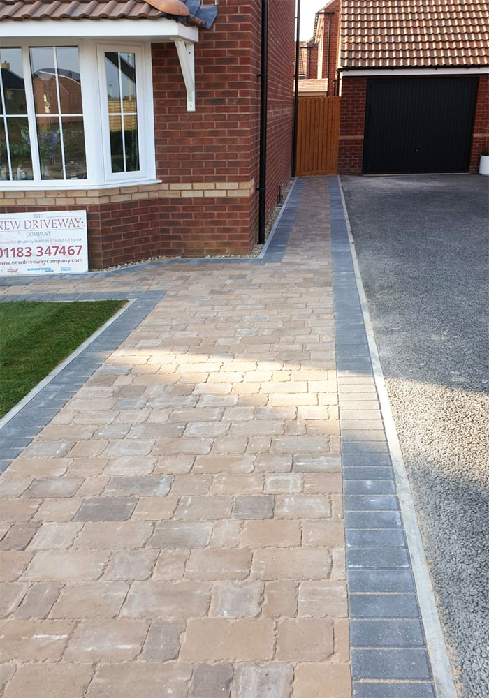 Block Paving Drive Pathway and Lawn Swindon Wiltshire The New Driveway Company